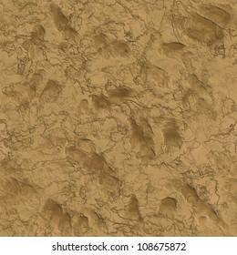 Liquid clay with animal tracks seamless background