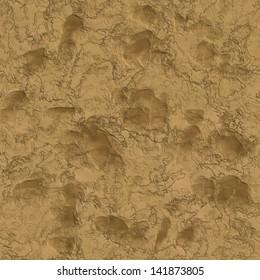 Liquid clay with animal tracks seamless texture