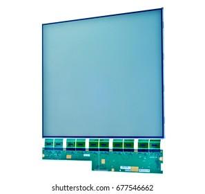 Liquid crystal display isolated on white