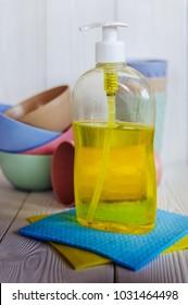 liquid detergent for washing dishes