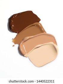Liquid foundation smears, creamy texture