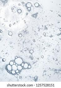 Liquid gel on a digital screen of microscope