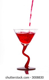Liquid pouring into glass