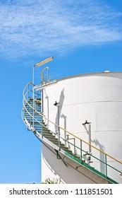 liquid solution tank in tetrochemical plant