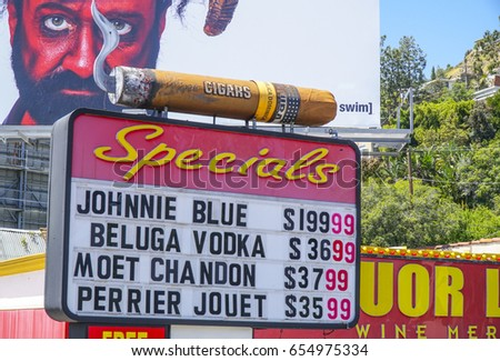 Liquor Cigar Shop Los Angeles LOS Stock Photo (Edit Now