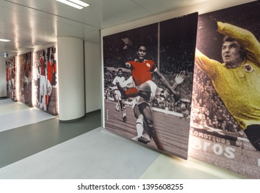 Lisboa, Portugal - April 2018: Behind the curtains at Estadio da Luz - the official playground of FC Benfica