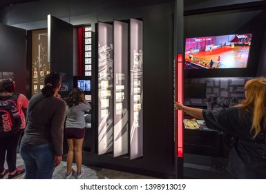 Lisboa, Portugal - April 2018: club history in FC Benfica museum