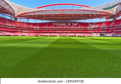 Lisboa, Portugal - April 2018:  View on Estadio da Luz - the official playground of FC Benfica