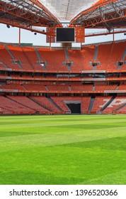 Lisboa, Portugal - April 2018: View on Estadio da Luz - the official arena of FC Benfica