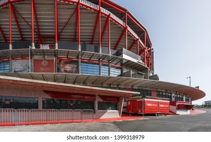 Lisboa, Portugal - April 2018:  View on Estadio da Luz