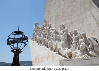 LISBOA - PORTUGAL JUNE 16, 2017: The Monument to the Discoveries (Padrão dos Descobrimentos), built in 1960, is currently one of the most visited monuments around Lisbon.