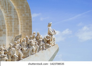 Lisboa, Portugal - June 9, 2019: Padrão dos descobrimentos  (Monument to the Discoveries) is a monument on bank of the Tagus River in Lisbon
