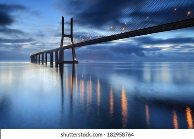 Lisbon is an amazing tourist destination because their urban landscapes, by its light, its monuments. The Vasco da Gama Bridge crosses the Tagus River, and is one of the longest bridges in the world.
