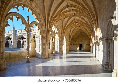 Lisbon. Belem. The Monastery of Jeronimos and Gallery of 1544 are the most outstanding architectural landmark in Manueline style