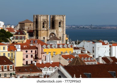 The Lisbon Cathedral in Lisbon, Portugal, originated in the 12th century, classified as a National Monument since 1910.