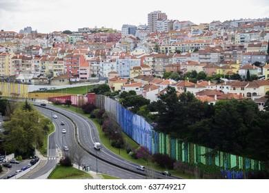 Lisbon city panoramic view