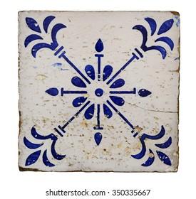 lisbon city portugal blue floral mosaic detail