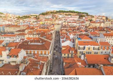 Lisbon cityscape panorama Portugal.