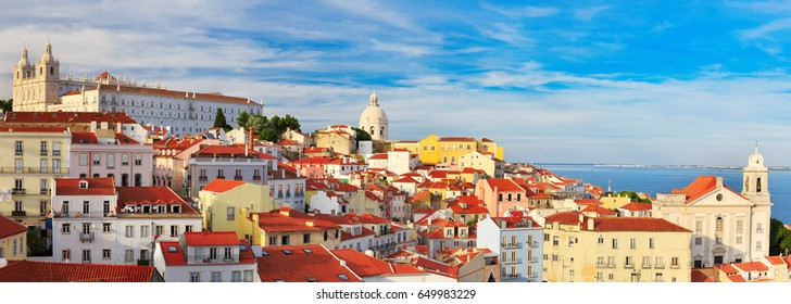 Lisbon cityscape, view of the Alfama downtown, Portugal