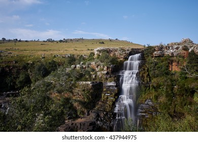 Lisbon Falls is the highest waterfall in Mpumalanga, South Africa. The waterfall is 94 m high.