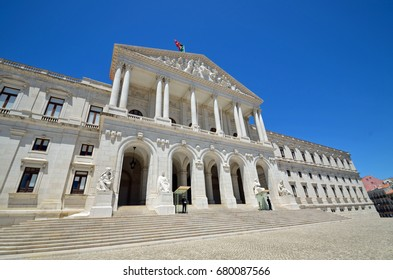 LISBON - JULY 2, 2017: Sao Bento Palace is the home of the Assembly of the Republic, the Portuguese parliament and was completed in 1938.