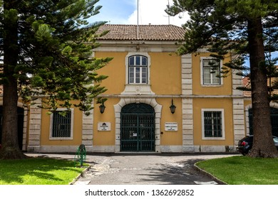 LISBON – July 5, 2018: Northern facade of the Cordoaria Nacional building, the former rope making factory, built in the 18th century in Lisbon, Portugal