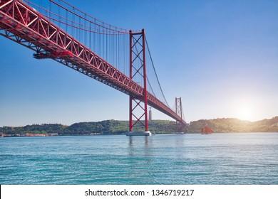 Lissabon, Wegweiser 25. April-Brücke