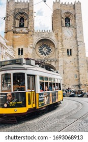 Lisbon, Lissabon/Portugal - September 15  2019 : Beautiful traditional tram in Lisbon
