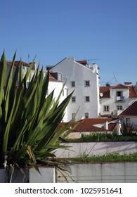 Lisbon Panoramic View. Blue, detail.
