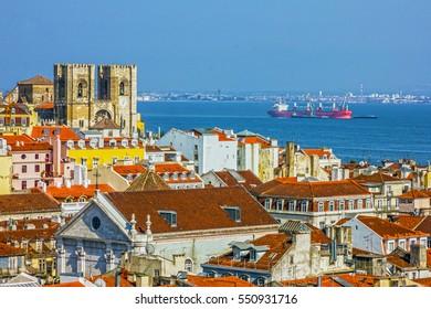 Lisbon panoramic view, Portugal.