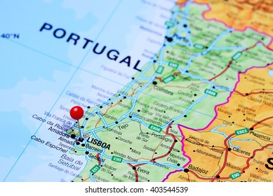 Portugal Map Pin Images Stock Photos Vectors Shutterstock