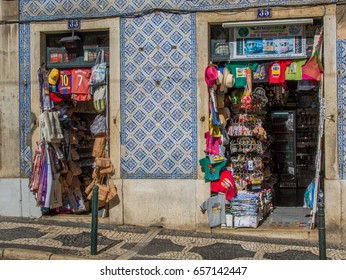 Lisbon Portugal. 05 June 2017.gift shop in center town Lisbon. Lisbon, Portugal. photography by Ricardo Rocha.