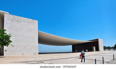 LISBON, PORTUGAL- 05.23.2017: Pavilion modern landmark architecture