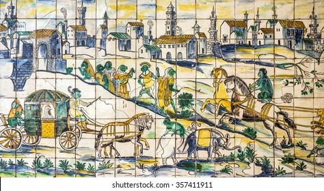 https www shutterstock com image photo lisbon portugal ancient ceramic tile museum 357411911
