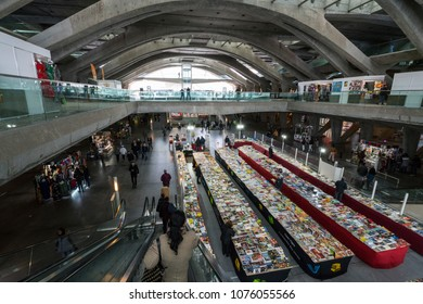 Lisbon, Portugal. April 2018.  view of Gare do Oriente in Lisbon, Portugal