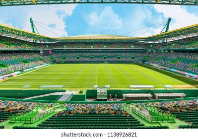 Lisbon, Portugal - April 2018: view on Jose Alvalade stadium - the official playground of FC Sporting