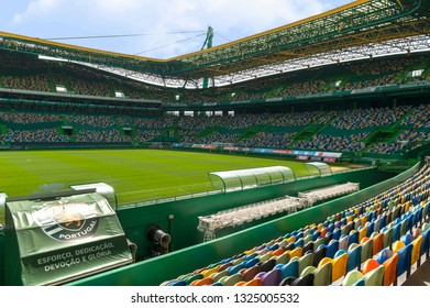 Lisbon, Portugal - April 2018: view on FC Sporting arena