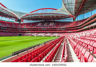 Lisbon, Portugal - April 2018: View on FC Benfica arena