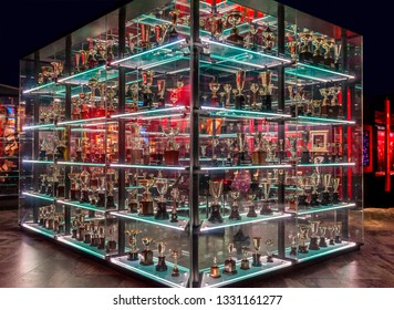 Lisbon, Portugal - April 2018:  visiting the official museum at FC Benfica arena