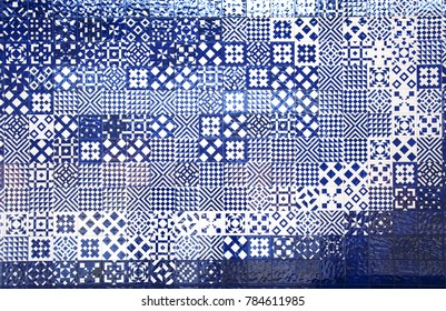 Lisbon Portugal Aquarium tiles of the Oceans texture pattern