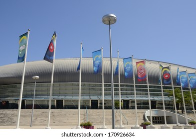 LISBON, PORTUGAL - AUGUST 13:  The Atlantic Pavilion on August 13, 2013 in  the Park of the Nations  in Lisbon, Portugal. It was designed to organize conferences and events.