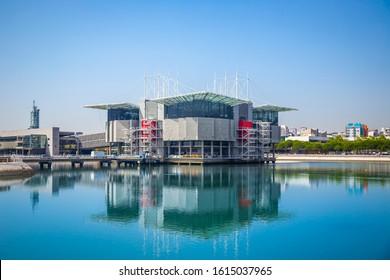 Lisbon, Portugal - August 2019 : Lisbon Oceanarium, located in the Parque das Nacoes, is the largest indoor aquarium in Europe