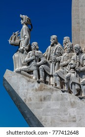 Lisbon, Portugal, August 6, 2017: Monument to the Discoveries, architect Cottinelli Telmo, sculptor Leopoldo de Almeida, inaugurated in 1960 to commemorate the country's golden age of world expansion