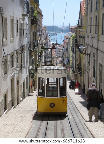 Lisbon Portugal Bica Elevator Typical Way Stock Photo Edit Now