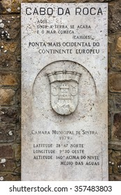 Lisbon, Portugal, Cabo da roca monument - most western point of Europe