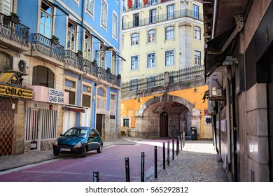 LISBON, PORTUGAL - CIRCA OCTOBER, 2016:  Streets of Lisbon town, Portugal.