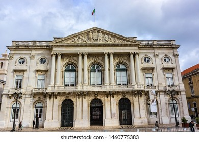 LISBON, PORTUGAL - DECEMBER 28, 2015: Neoclassical Lisbon City Hall (Camara Municipal de Lisboa) - building, located in the Square of the Municipality (Praca do Município).