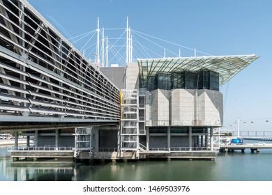 Lisbon, Portugal - September 30, 2018: The exterior of Oceanário de Lisboa