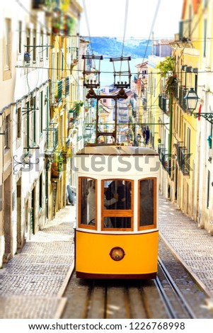 Lisbon Portugal Famous Tourist Attraction Bica Stock Photo Edit Now