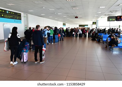 Lisbon, Portugal - february 21 2018 : the airport duty free